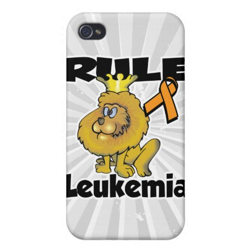 Leucemia de la regla (naranja) iPhone 4 carcasas