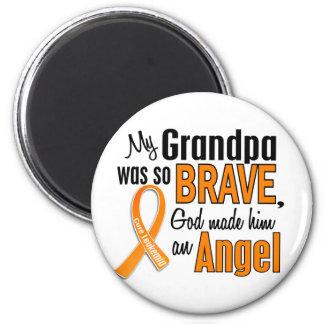 Leucemia del abuelo del ángel imán redondo 5 cm