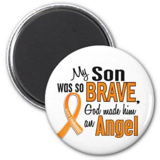 Leucemia del hijo del ángel imán redondo 5 cm
