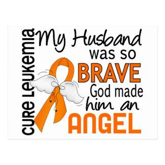 Leucemia del marido del ángel 2 tarjeta postal