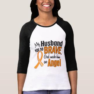 Leucemia del marido del ángel camisetas