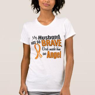 Leucemia del marido del ángel camiseta