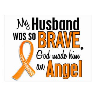 Leucemia del marido del ángel tarjetas postales