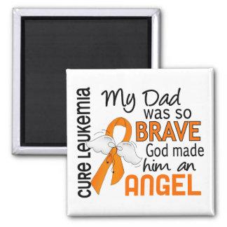 Leucemia del papá del ángel 2 imán cuadrado