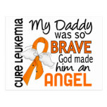 Leucemia del papá del ángel 2 postal