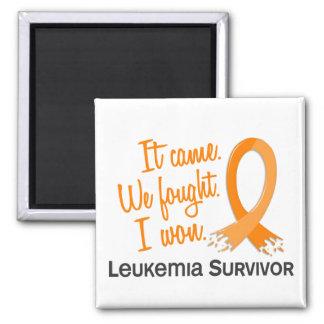 Leucemia del superviviente 11 imán cuadrado