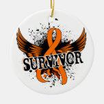 Leucemia del superviviente 16 ornamento para arbol de navidad