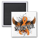 Leucemia del superviviente 16 imán de frigorífico