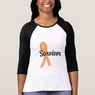 Leucemia del superviviente 17 camiseta