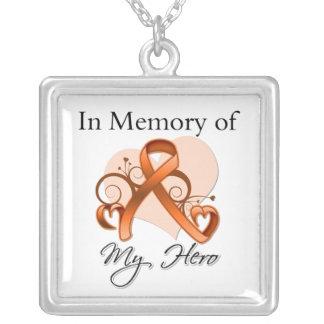 Leucemia - en memoria de mi héroe colgante cuadrado