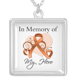 Leucemia - en memoria de mi héroe joyería