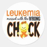 Leucemia ensuciada con el polluelo incorrecto etiqueta