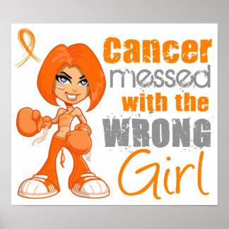 Leucemia ensuciada con Girl.png incorrecto Posters