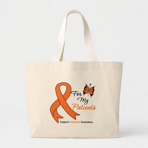 Leucemia - para mis pacientes bolsa tela grande