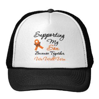 Leucemia que apoya a mi hijo gorras