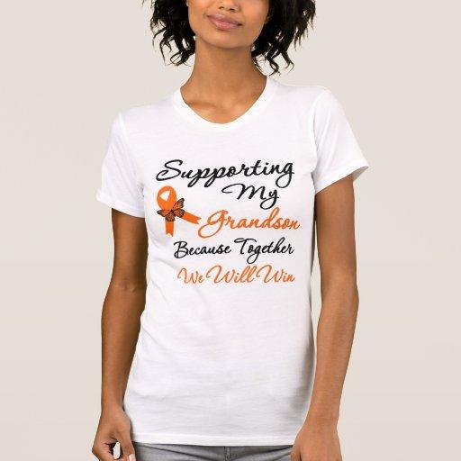 Leucemia que apoya a mi nieto camiseta