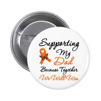 Leucemia que apoya a mi papá pin