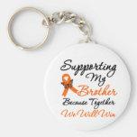 Leucemia que apoya mi Brother Llaveros Personalizados