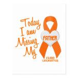 Leucemia que falta a mi padre 1 tarjeta postal