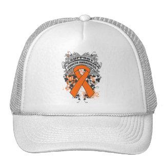 Leucemia - refresque el lema de la conciencia de l gorro de camionero