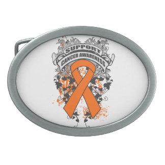 Leucemia - refresque el lema de la conciencia de l hebilla cinturon oval