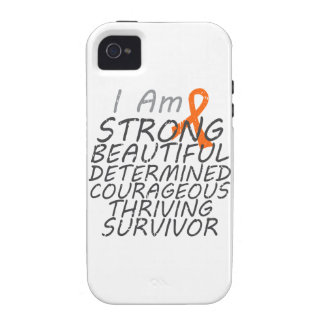 Leucemia soy superviviente fuerte vibe iPhone 4 fundas