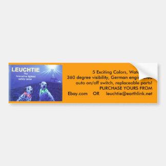 LEUCHTIE Lighted Safety Dog Collar Bumper Sticker