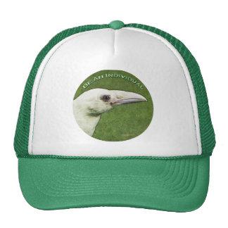Leucystic Raven for Bird-lovers Trucker Hat