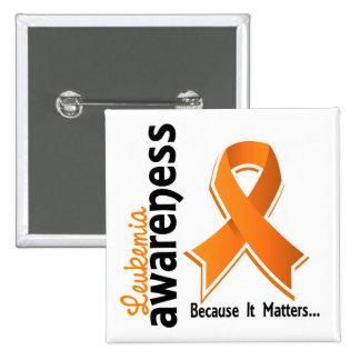 Leukemia Awareness 5 Pinback Button