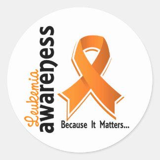 Leukemia Awareness 5 Classic Round Sticker