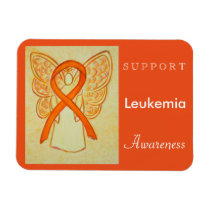 Leukemia Awareness Angel Custom Magnet