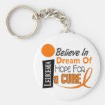 Leukemia Awareness BELIEVE DREAM HOPE Keychain
