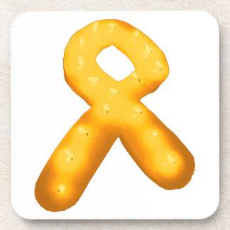 Leukemia Awareness Candle Ribbon Drink Coaster