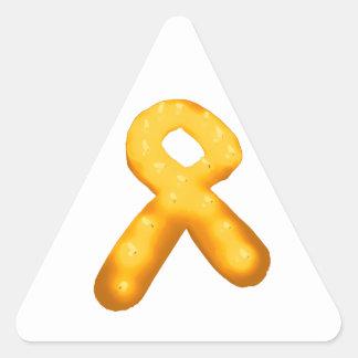 Leukemia Awareness Candle Ribbon Triangle Sticker