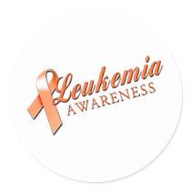 Leukemia Awareness Classic Round Sticker