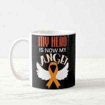 Leukemia Awareness Coffee Mug Orange Ribbon Cancer