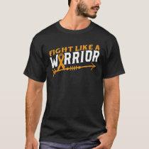 Leukemia Awareness Fight Like A Warrior Blood Canc T-Shirt