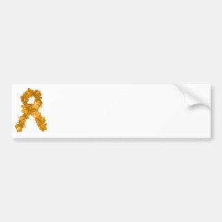 Leukemia Awareness Flower Ribbon Bumper Sticker
