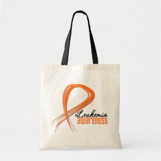 Leukemia Awareness Grunge Ribbon Canvas Bag