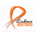 Leukemia Awareness Grunge Ribbon Post Cards
