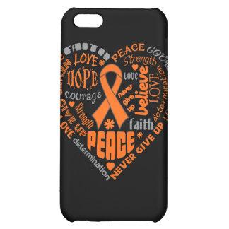 Leukemia Awareness Heart Words iPhone 5C Cover