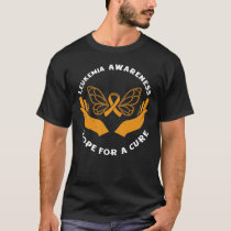 Leukemia Awareness Hope For A Cure Blood Cancer  T-Shirt