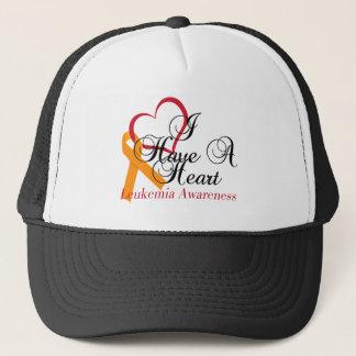 Leukemia Awareness I Have A Heart Trucker Hat
