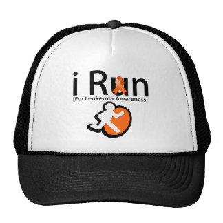 Leukemia Awareness I Run Trucker Hat