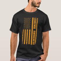 Leukemia Awareness Month American Flag Blood Cance T-Shirt