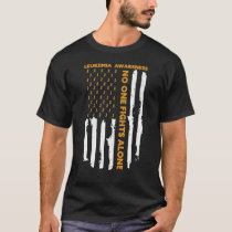 Leukemia Awareness Month American Flag I'm A Warri T-Shirt