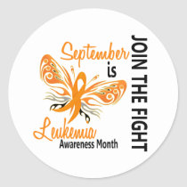 Leukemia Awareness Month Butterfly 3.1 Classic Round Sticker