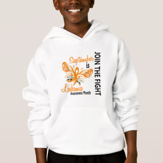 Leukemia Awareness Month Butterfly 3.1 Hoodie