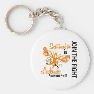 Leukemia Awareness Month Butterfly 3.1 Keychain