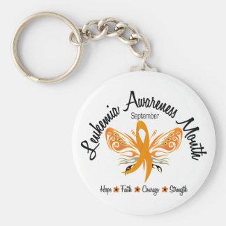 Leukemia Awareness Month Butterfly 3.2 Keychain